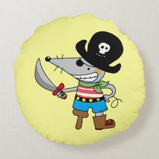 cartoon pirate mouse round pillow