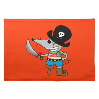 cartoon pirate placemat