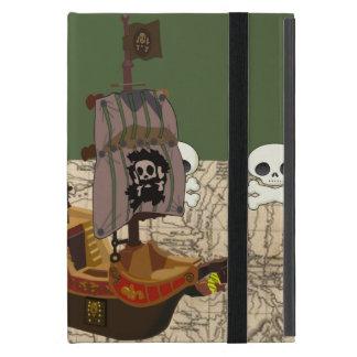 Cartoon Pirate Ship Personalize iPad Mini Cover
