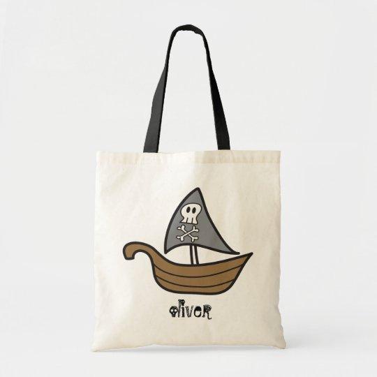 Cartoon Pirate Ship Skulls & Bones Party Bag