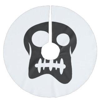 Cartoon pirate skull brushed polyester tree skirt