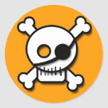 Cartoon pirate skull sticker