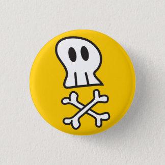 Cartoon Pirate Skulls & Bones Fun Party Button