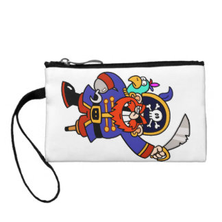 Cartoon Pirate With Peg Leg And Sword Coin Purses
