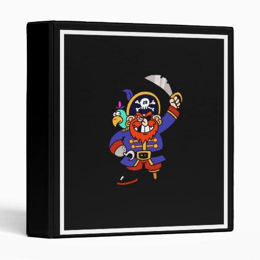 Cartoon Pirate With Peg Leg And Sword Binders