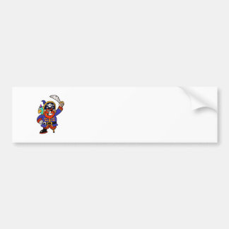 Cartoon Pirate With Peg Leg And Sword Bumper Sticker