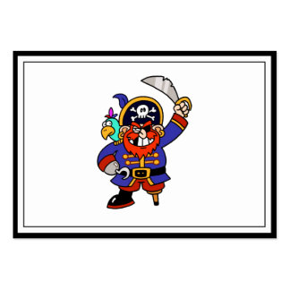 Cartoon Pirate With Peg Leg And Sword Business Cards