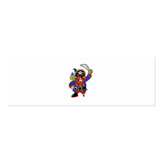 Cartoon Pirate With Peg Leg And Sword Business Card Template