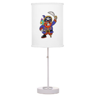 Cartoon Pirate With Peg Leg And Sword Table Lamp