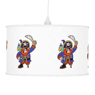 Cartoon Pirate With Peg Leg And Sword Ceiling Lamps