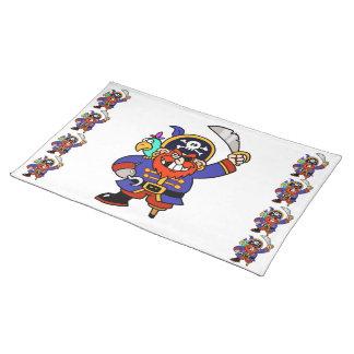 Cartoon Pirate With Peg Leg And Sword Place Mat