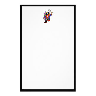 Cartoon Pirate With Peg Leg And Sword Personalized Stationery