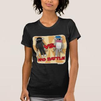 Cartoon Pirates Vs. Ninja Monkeys T-Shirt