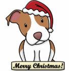 Cartoon Pit Bull Christmas Ornament