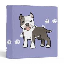 Cartoon Pitbull / American Staffordshire Terrier Binder