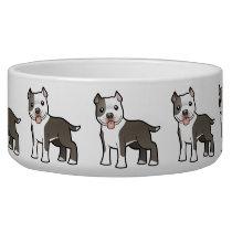 Cartoon Pitbull / American Staffordshire Terrier Bowl