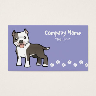 Cartoon Pitbull / American Staffordshire Terrier Business Card