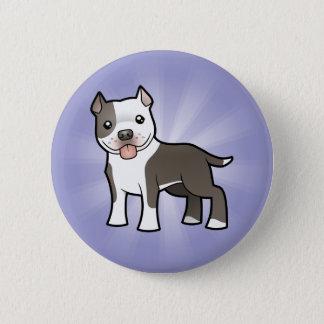 Cartoon Pitbull / American Staffordshire Terrier Button