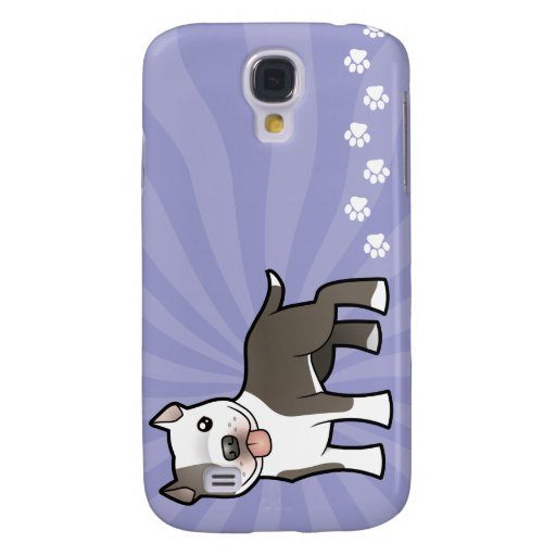Cartoon Pitbull / American Staffordshire Terrier Samsung Galaxy S4 Covers