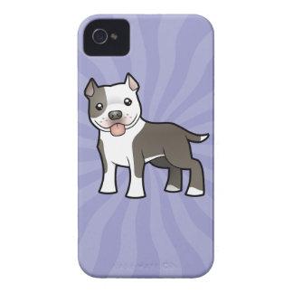 Cartoon Pitbull / American Staffordshire Terrier iPhone 4 Case