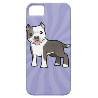 Cartoon Pitbull / American Staffordshire Terrier iPhone SE/5/5s Case