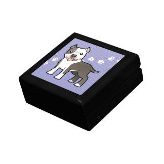 Cartoon Pitbull / American Staffordshire Terrier Jewelry Box