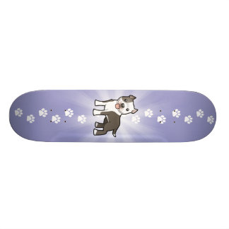 Cartoon Pitbull / American Staffordshire Terrier Skateboard Deck