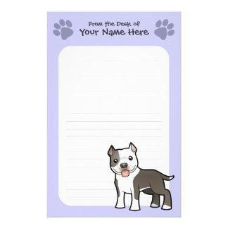 Cartoon Pitbull / American Staffordshire Terrier Stationery