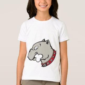 Cartoon Pitbull Head Dog - Kids T-shirt