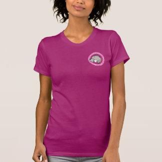 Cartoon Pitbull Head Pink Collar - Ladies T-shirt
