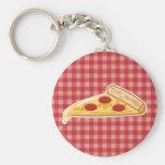 Cartoon Pizza Slice Key Chain