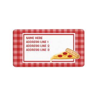 Cartoon Pizza Slice Personalized Address Label