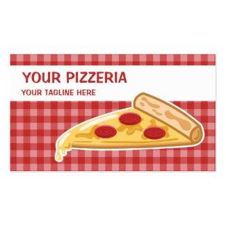 Cartoon Pizza Slice Pizzeria Business Card Templates