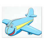 "Cartoon plane 4.25"" x 5.5"" invitation card"