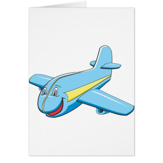 Cartoon plane card