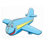 Cartoon plane post cards