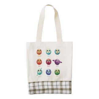 Cartoon Planets Zazzle HEART Tote Bag