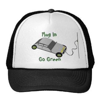 Cartoon Plug In Car Trucker Hat