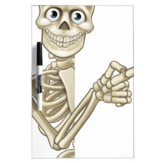Cartoon Pointing Skeleton Dry Erase Board