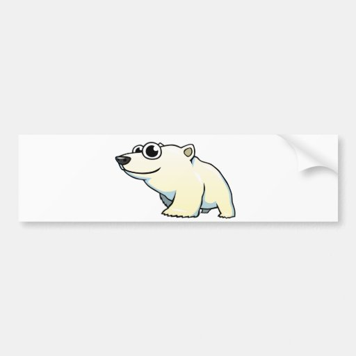 Cartoon Polar Bear Bumper Sticker