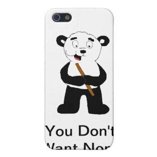 Cartoon Polar Bear Eating Bamboo iPhone SE/5/5s Cover