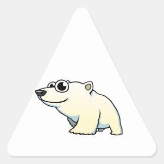 Cartoon Polar Bear Triangle Sticker