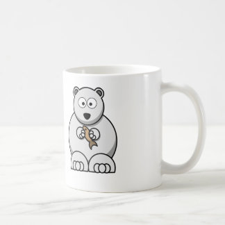 Cartoon Polar Bear - White Coffee Mug