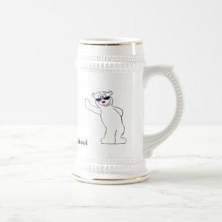 Cartoon Polar Bear With Cool Shades Beer Stein