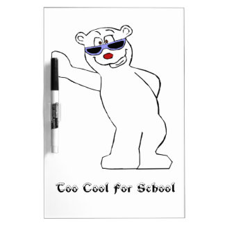 Cartoon Polar Bear With Cool Shades Dry-Erase Boards