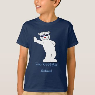 Cartoon Polar Bear With Cool Shades T-Shirt
