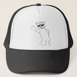 Cartoon Polar Bear With Cool Shades Trucker Hat