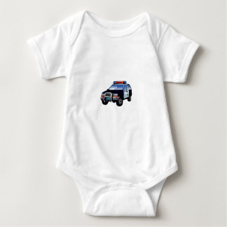 Cartoon Police Car Baby Bodysuit