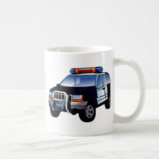 Cartoon Police Car Coffee Mug