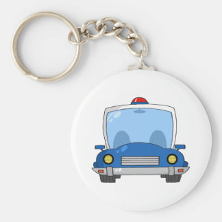 Cartoon Police Car Keychain